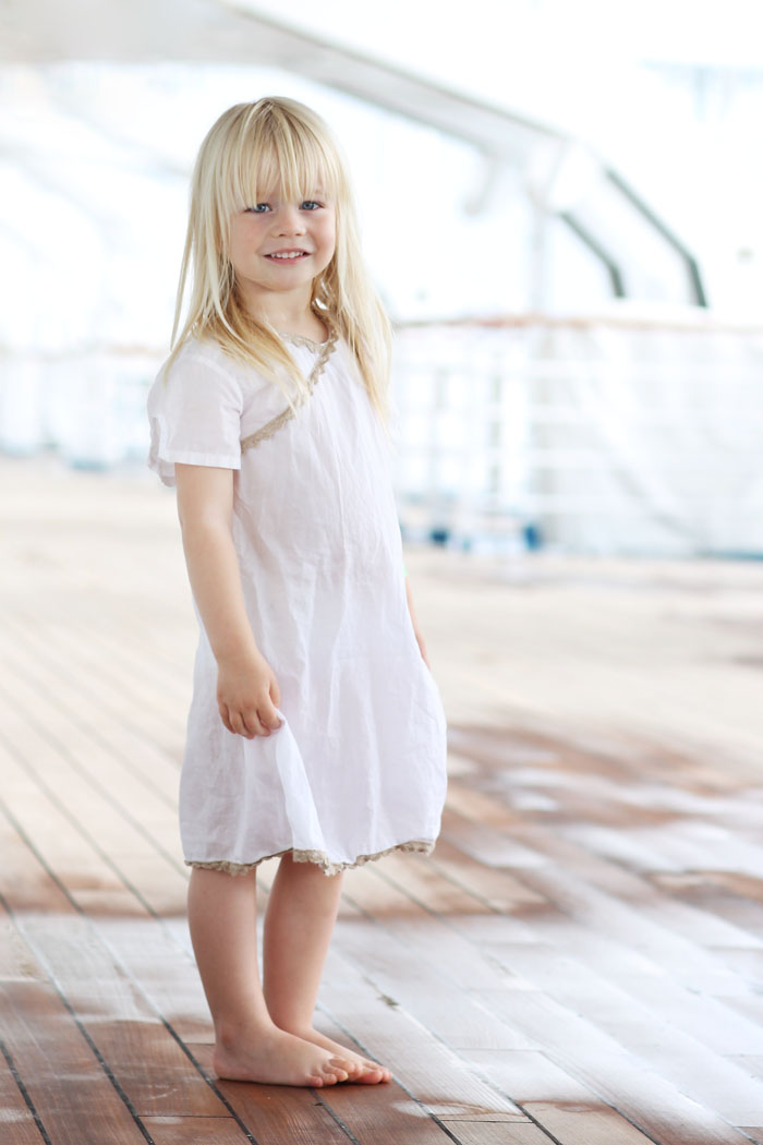 "This picture of Sienna on the ""Carnival Legend"" is the only decent picture I have so far"