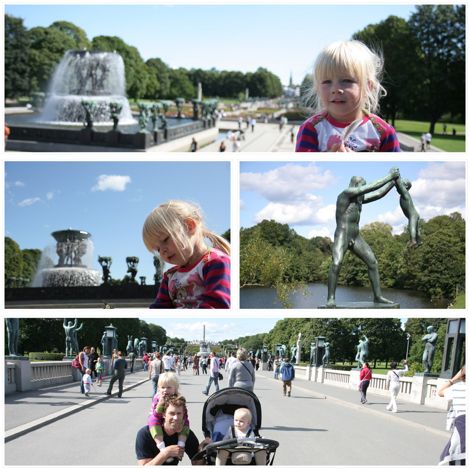 At the sculpture park (Vigelandsparken)